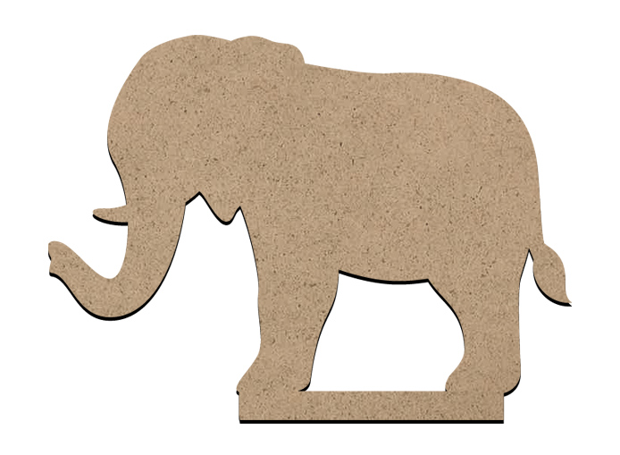"Standing Word Bling Surface - Elephant - Mini - 3 1/2"" x 2 1/2"""