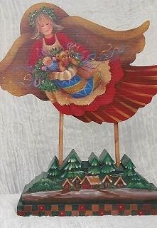 Christmas Stocking Angel - E-Packet - Yvonne Kresal