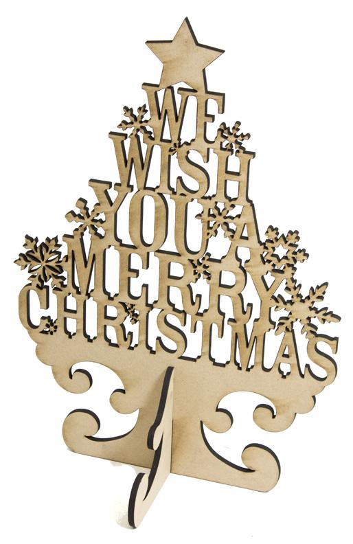 "Merry Christmas Word Tree Surface - 13"" x 19"""