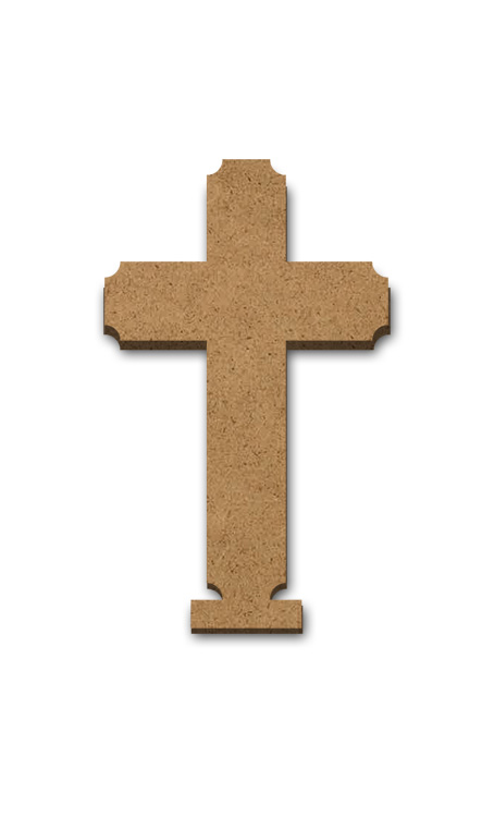 """Standing Word Bling Surface - Cross - Small - 2 1/2"""" x 4 1/4"""""""