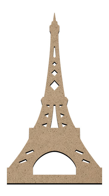 "Standing Word Bling Surface - Eiffel Tower - Small - 2 3/4"" x 4 7/8"""