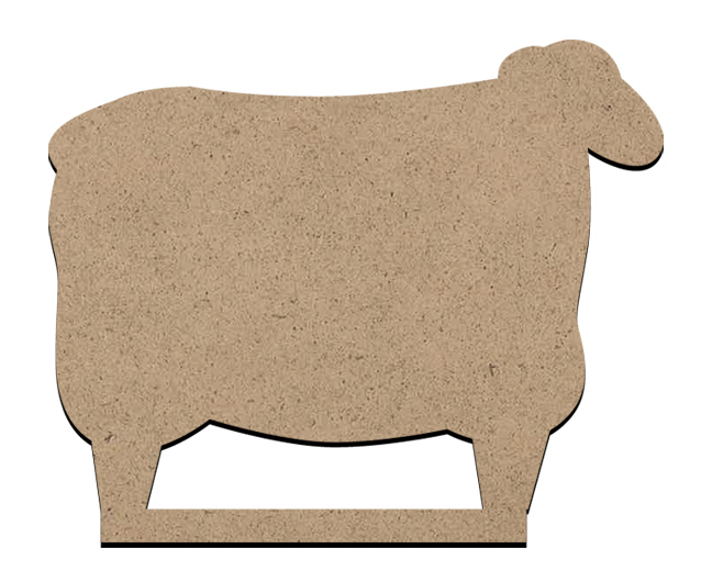 """Standing Word Bling Surface - Primitive Sheep - Small - 4 5/8"""" x 3 3/4"""""""