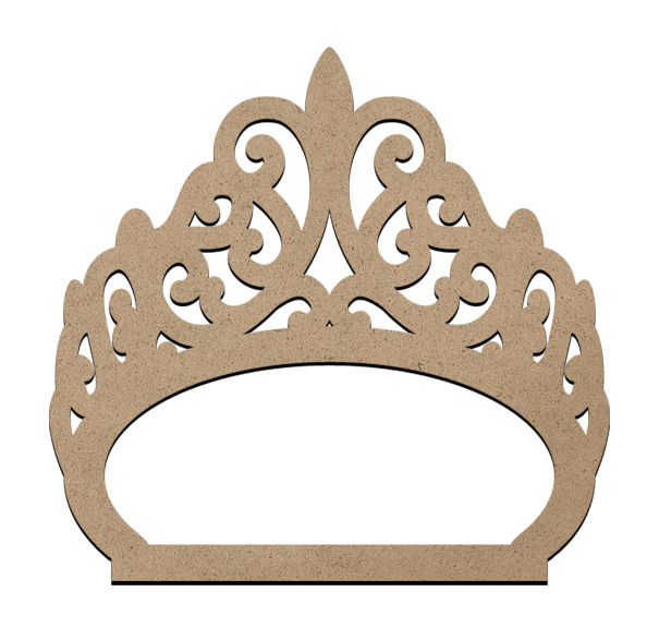 "Standing Word Bling Surface - Tiara - Small - 3 5/8"" x 3 7/8"""