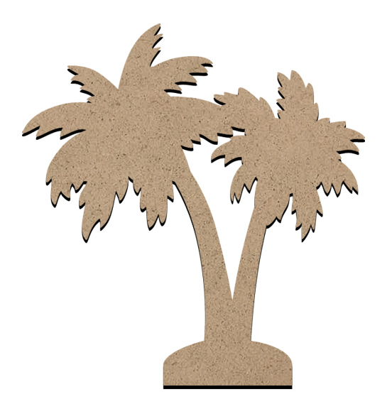 "Standing Word Bling Surface - Palm Tree - Small - 4 3/8"" x 4 1/8"""