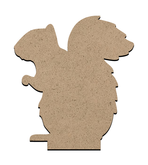"""Standing Word Bling Surface - Squirrel - Small - 3 3/8"""" x 3 3/4"""""""