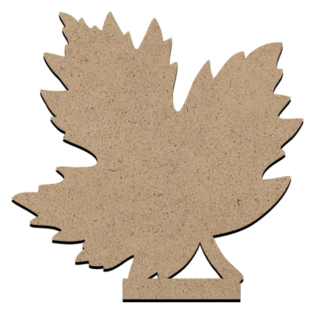 """Standing Word Bling Surface - Fall Leaf - Small - 3 5/8"""" x 3 5/8"""""""