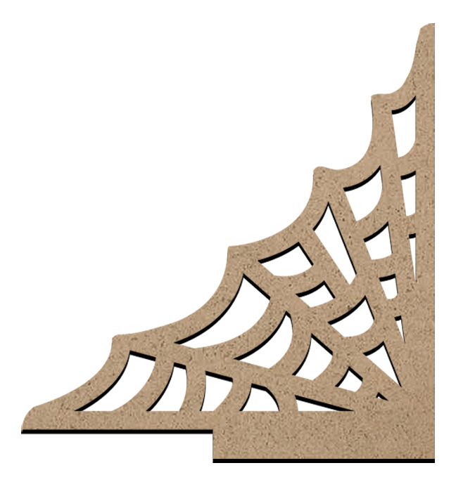 "Standing Word Bling Surface - Spiderweb Corner - Small - 3 1/2"" x 3 3/4"""