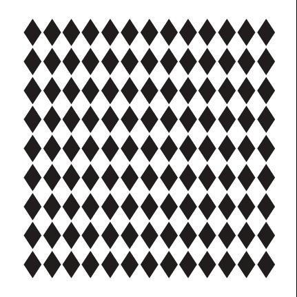 """Small Diamonds Pattern Stencil - 12"""" x 12"""""""