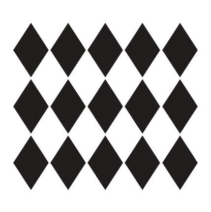 "Large Diamonds Pattern Stencil - 12"" x 12"""