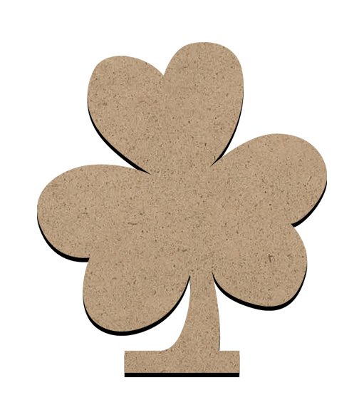 """Standing Word Bling Surface - Shamrock - Small - 3 3/8"""" x 3 7/8"""""""