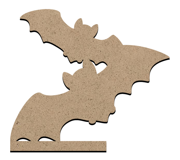 """Standing Word Bling Surface - Bat - Small - 4 1/8"""" x 3 5/8"""""""