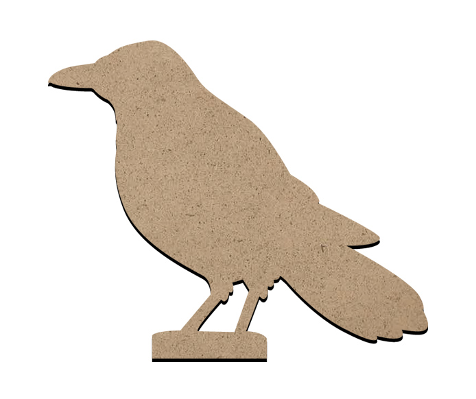 "Standing Word Bling Surface - Crow - Mini - 3 1/2"" x 3"""