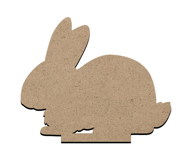 "Standing Word Bling Surface - Bunny - Small - 4 3/8"" x 3 1/2"""