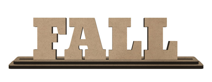 Fall Standing Letters Set with Base