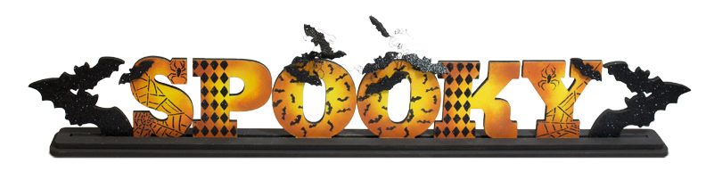 Spooky Standing Word Pattern Packet - Patricia Rawlinson
