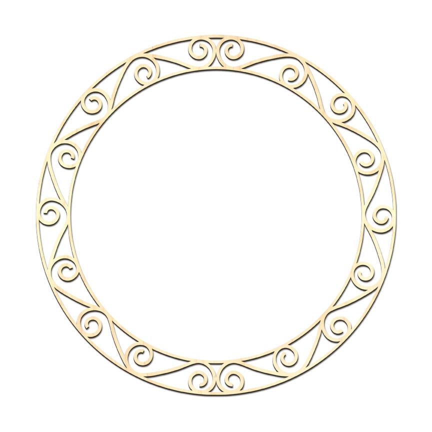 "Roman Scrolls Clock Overlay - 18"" x 18"""
