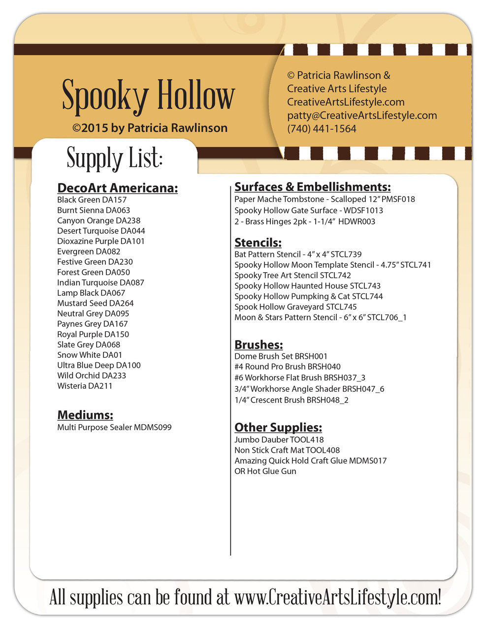 Spooky Hollow Pattern Packet - Patricia Rawlinson