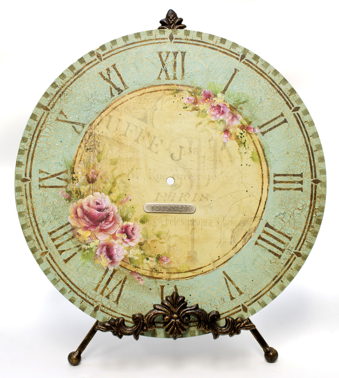 Old French Roses Clock E-Packet - Patricia Rawlinson