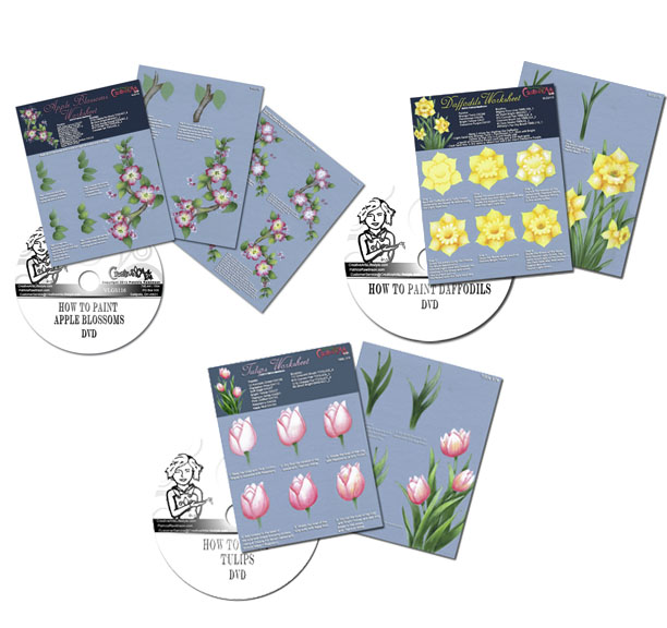 Spring Flower Education Worksheet & DVD Set