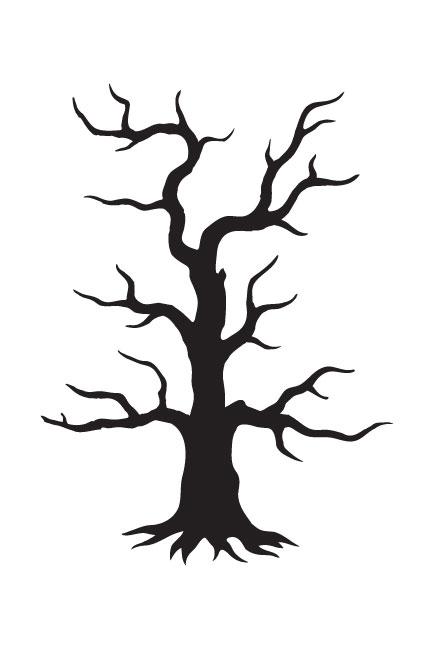 "Spooky Hollow Tree Art Stencil - 4"" x 6"" - STCL742 - by StudioR12"