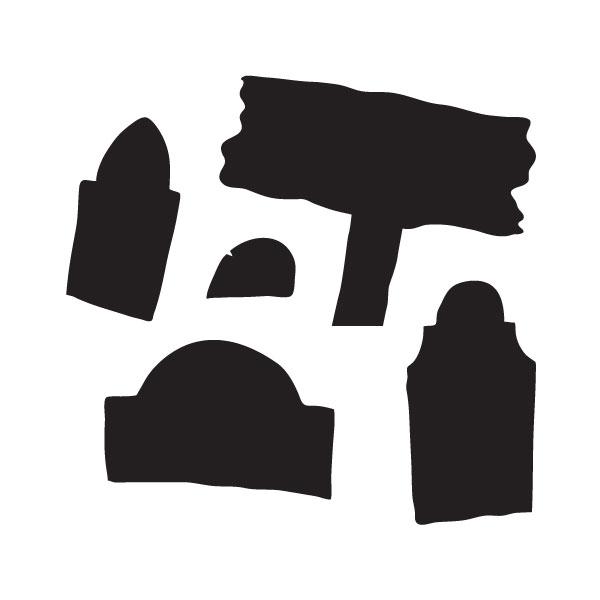 "Spooky Hollow Graveyard Art Stencil - 5"" x 5"""