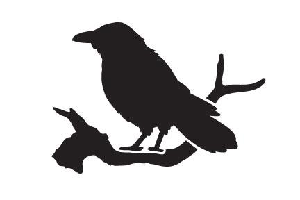 "Edgar's Raven - Art Stencil - 6"" x 4"""