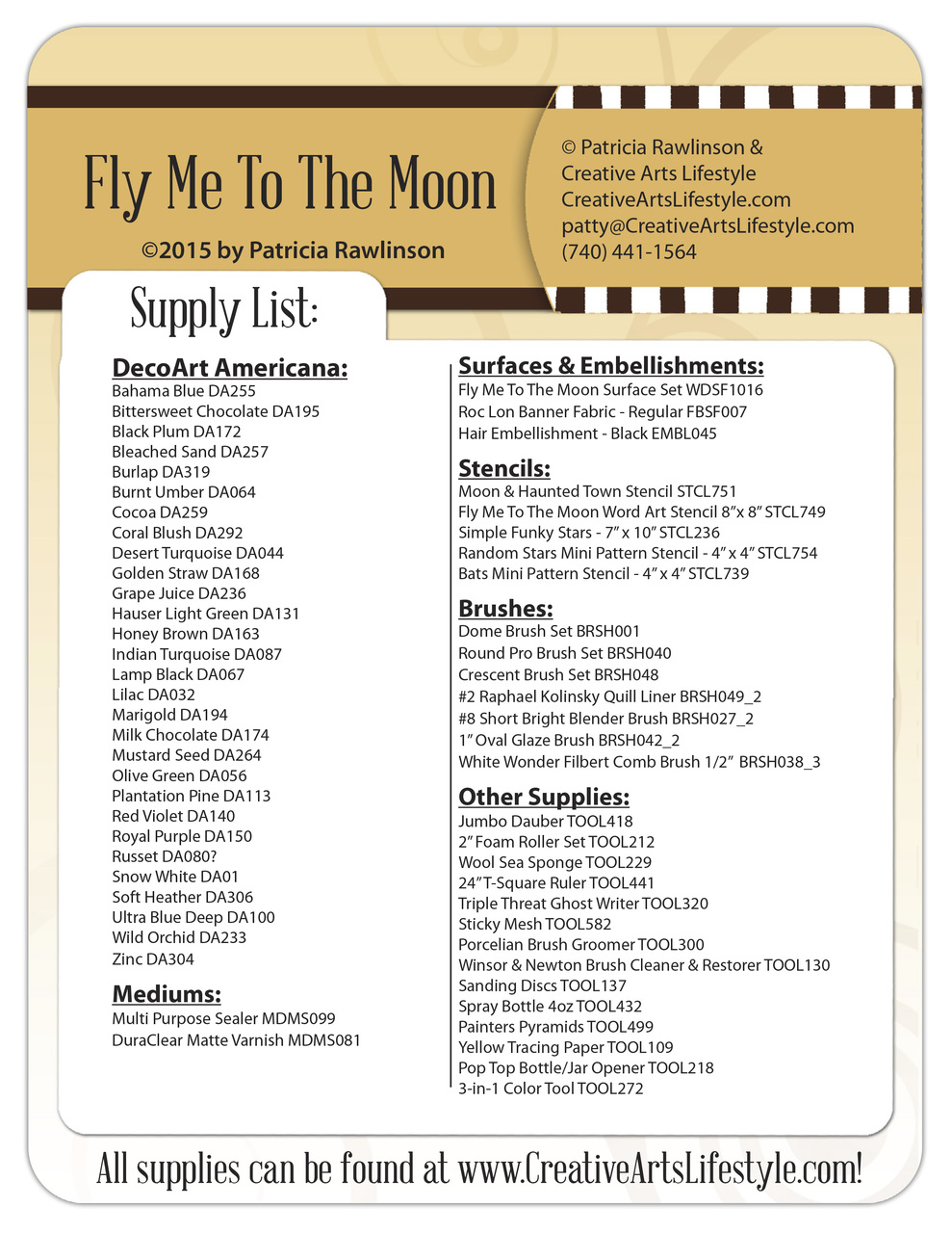 Fly Me to the Moon Pattern Packet - Patricia Rawlinson