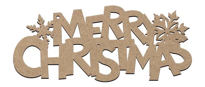 Christmas Word Ornament Large- Merry Christmas