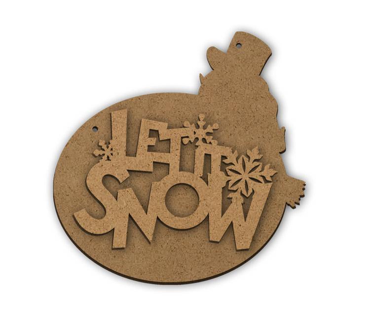 "Let it Snow Multipart Word Surface - Plaque - 10 3/4"" x 10 3/4"""