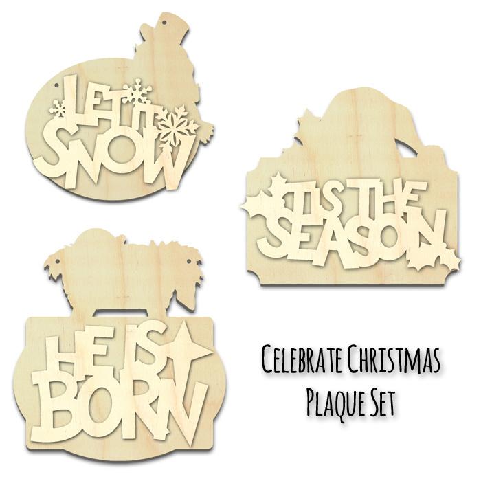 Celebrate Christmas Plaque Surface Set
