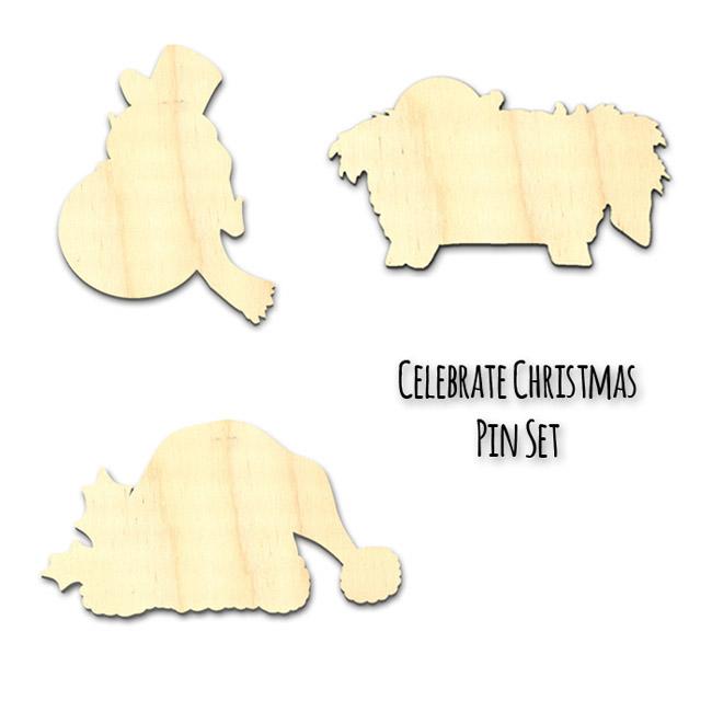Celebrate Christmas Pin Surface Set