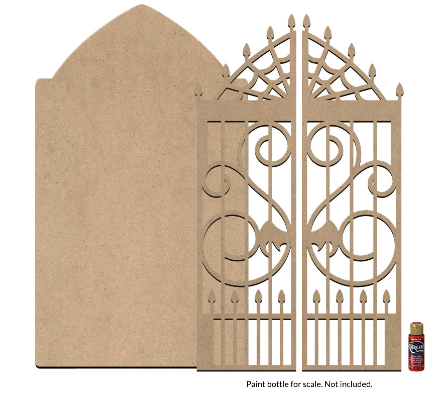 Gothic Tombstone and Gate Surface Set - Jumbo