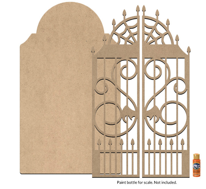Macabre Tombstone and Gate Surface Set - Jumbo
