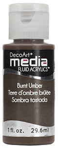 DecoArt Media Fluid Acrylics - Burnt Umber - 1 oz.