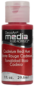 DecoArt Media Fluid Acrylics - Cadmium Red Hue - 1 oz.