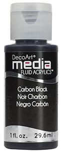 DecoArt Media Fluid Acrylics - Carbon Black - 1 oz.