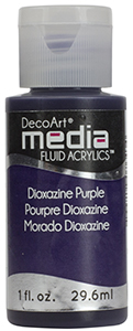 DecoArt Media Fluid Acrylics - Dioxazine Purple - 1 oz.