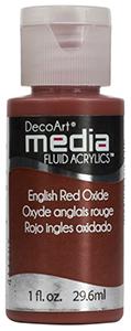 DecoArt Media Fluid Acrylics - English Red Oxide - 1 oz.