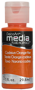 DecoArt Media Fluid Acrylics - Cadmium Orange Hue - 1 oz.
