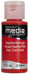 DecoArt Media Fluid Acrylics - Naphthol Red Light - 1 oz.