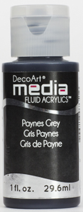 DecoArt Media Fluid Acrylics - Payne's Grey - 1 oz.