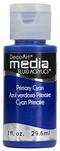 DecoArt Media Fluid Acrylics - Primary Cyan - 1 oz.