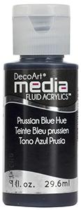 DecoArt Media Fluid Acrylics - Prussian Blue Hue - 1 oz.