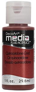 DecoArt Media Fluid Acrylics - Quinacridone Gold - 1 oz.