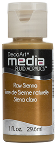 DecoArt Media Fluid Acrylics - Raw Sienna - 1 oz.