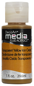 DecoArt Media Fluid Acrylics - Translucent Yellow Iron Oxide - 1 oz.