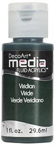 DecoArt Media Fluid Acrylics - Viridian Hue - 1 oz.