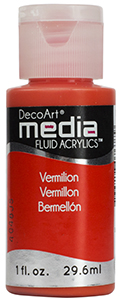 DecoArt Media Fluid Acrylics - Vermillion Hue - 1 oz.