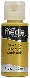 DecoArt Media Fluid Acrylics - Yellow Oxide - 1 oz.