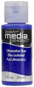 DecoArt Media Fluid Acrylics - Ultramarine Blue - 1 oz.
